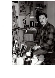 Alexander Ivanov in his studio