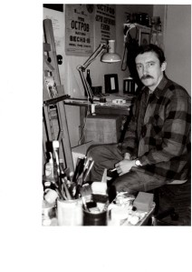 Alexander Ivanov in his studio