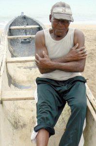 Sao Tome boatman.