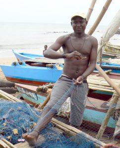 Sao Tome fisherman.