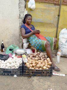 Sao Tome street trader